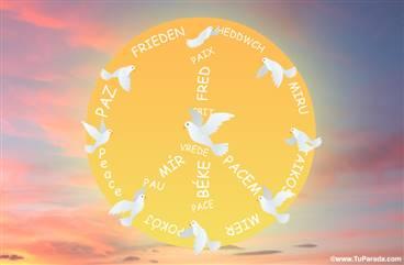 Postal Paz con sol