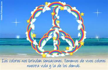 Paz con arco iris