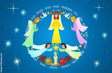 Postales con ángeles