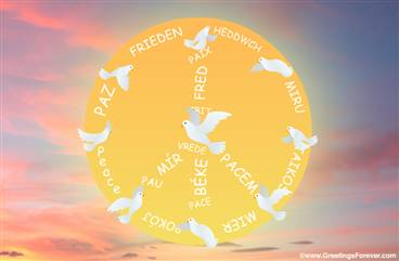Peace Symbol and freedom ecard