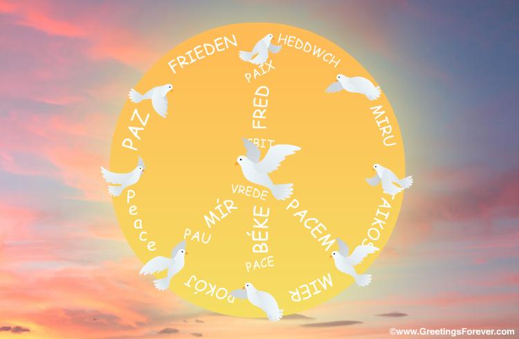 Ecard - Peace Symbol and freedom ecard