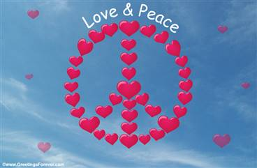 Love and Peace - Best wishes ecard