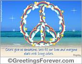 Peace Symbol ecard