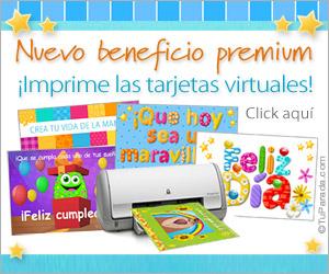 Imprime las tarjetas virtuales