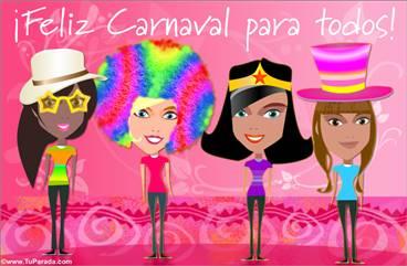 Tarjeta de carnaval para amigas