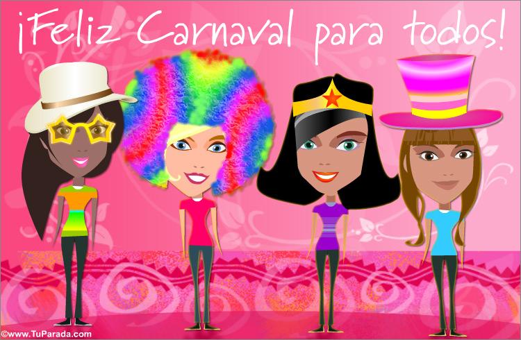 Tarjeta - Tarjeta de carnaval para amigas