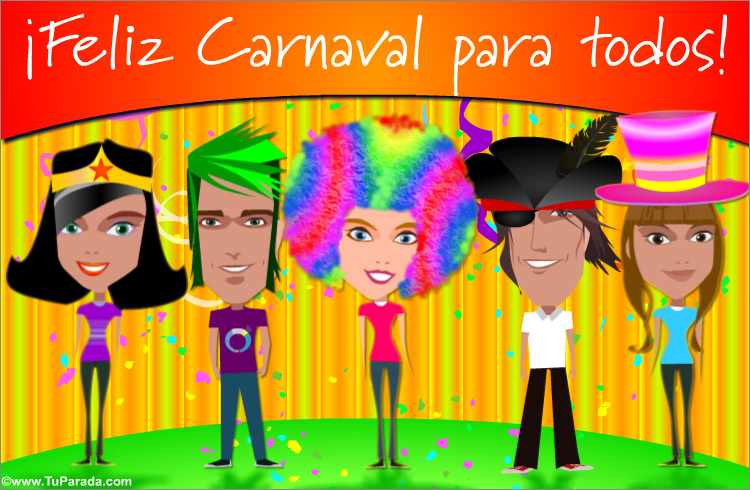 Tarjeta - Ecard de carnaval