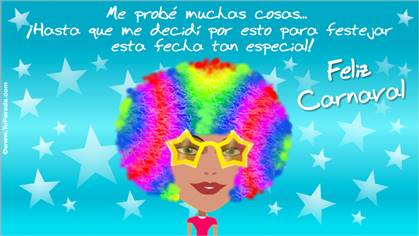 Tarjeta de Carnaval de mujer