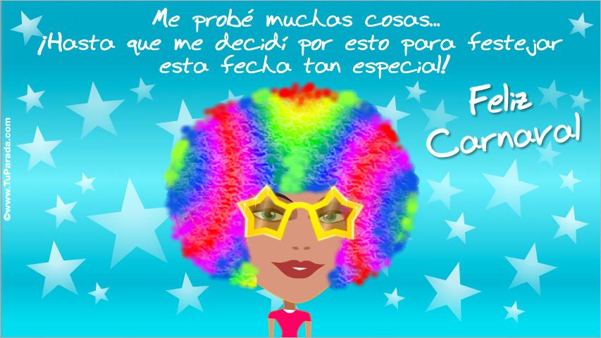 Tarjeta - Tarjeta de Carnaval de mujer