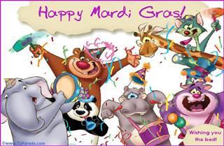 Mardi Gras eGreeting