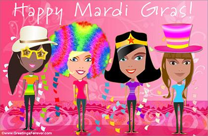 Mardi Gras ecard