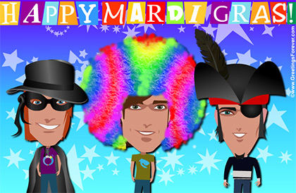 Mardi Gras greetings
