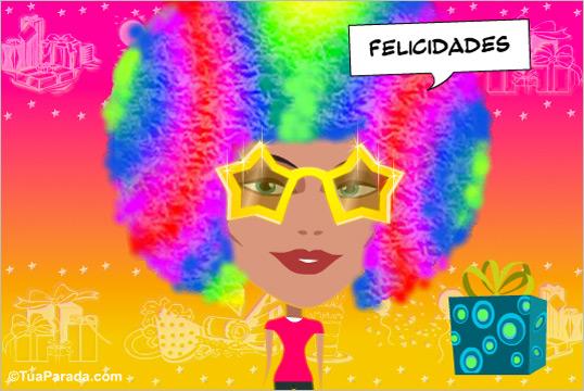 Cartão - Parabéns pela Carnaval