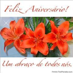 Cartão de flores