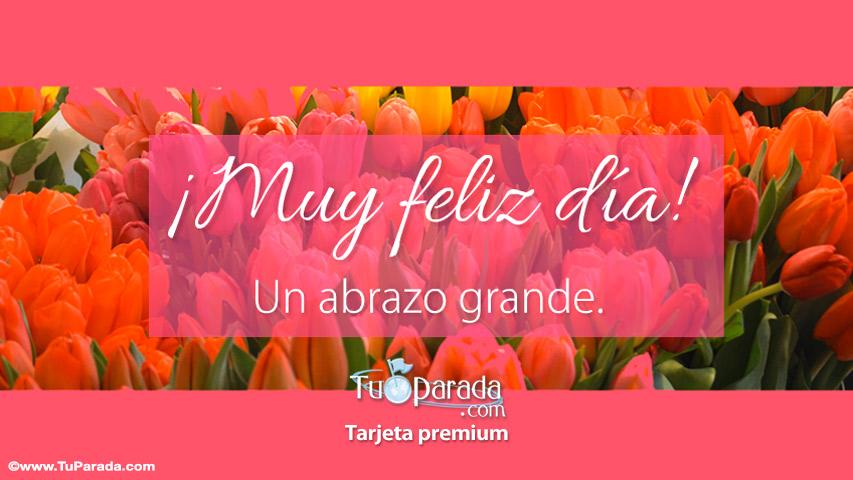 Tarjeta - Tarjeta de muy feliz día con flores
