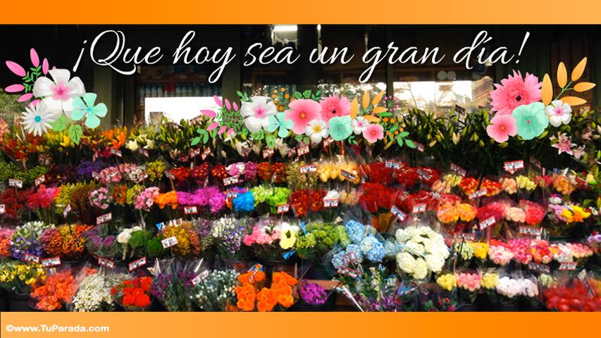 Tarjeta - Feliz día con florería
