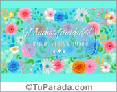 Tarjeta de Modelos de flores