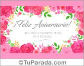 Tarjeta de aniversario con rosas