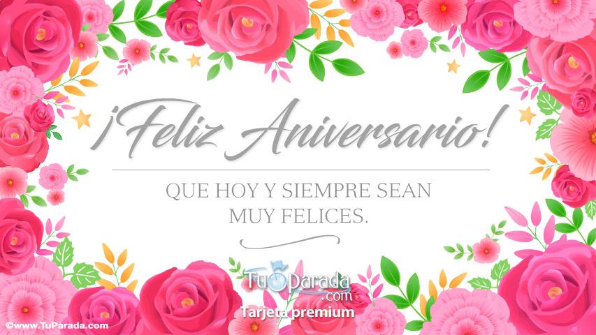 Tarjeta - Tarjeta de aniversario con rosas