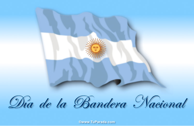 Tarjeta - Día de la Bandera Argentina