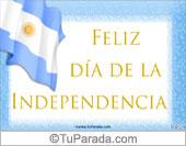 Tarjeta Día de la independencia argentina