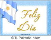 Tarjetas, postales: Fiestas Patrias de Argentina