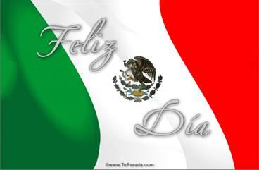 Tarjeta de Bandera de México