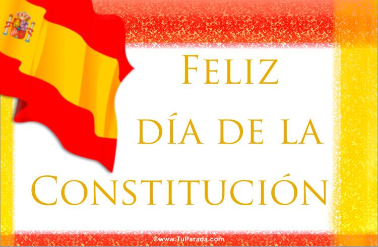 Tarjeta - Día de la Constitución de España