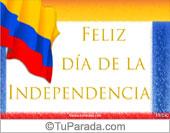 Tarjeta para fiestas de Colombia