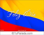 Tarjeta con la bandera de Colombia