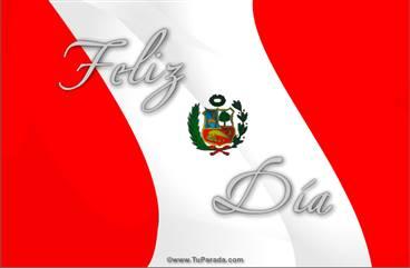 Tarjeta de Bandera de Perú