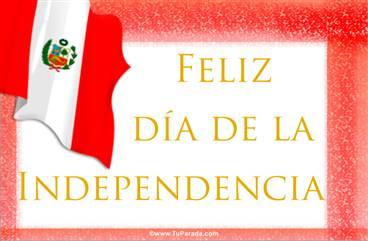 Tarjeta Independencia de Perú