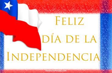 Tarjeta de la Independencia de Chile
