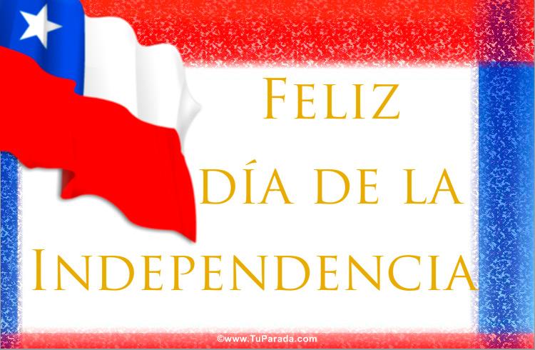 Tarjeta - Tarjeta de la Independencia de Chile