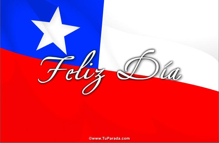 Tarjetas De Fiestas De Chile Tarjetas De La Bandera