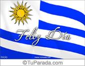 Tarjeta para fiestas de Uruguay