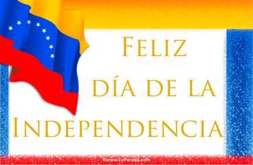 Tarjeta Día de la independencia de Venezuela
