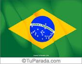 Tarjetas, postales: Fiestas de Brasil