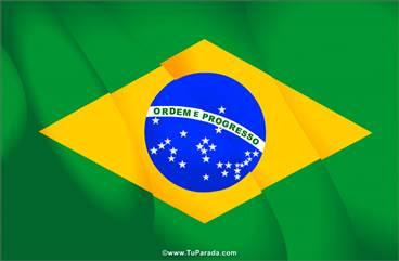 Tarjeta con la bandera de Brasil