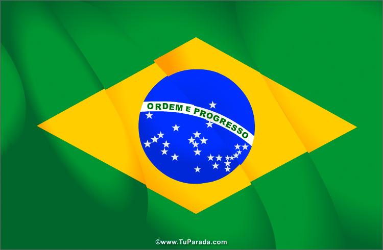 Tarjeta - Tarjeta con la bandera de Brasil