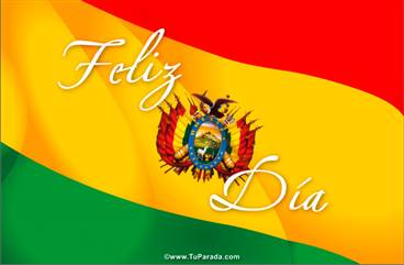 Tarjeta con bandera de Bolivia