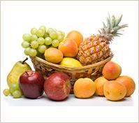 Canasta especial con frutas