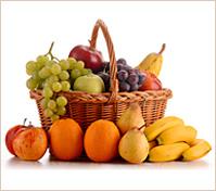 Gran canasta con frutas