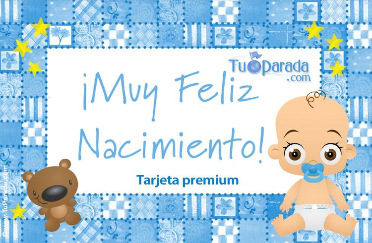Tarjeta - Tarjeta para nacimiento de bebé