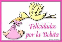 Felicidades por la bebita