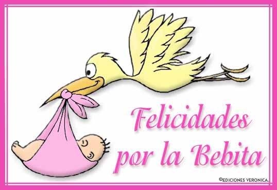 Tarjeta - Felicidades por la bebita