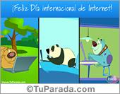 Tarjeta Día internacional de Internet