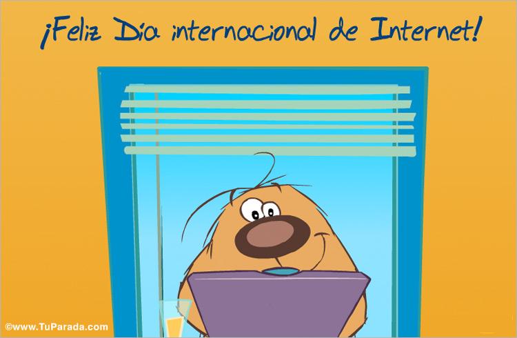 Tarjeta - Postal para el día de Internet