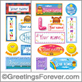 Names in stickers