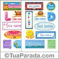 Nomes en stickers